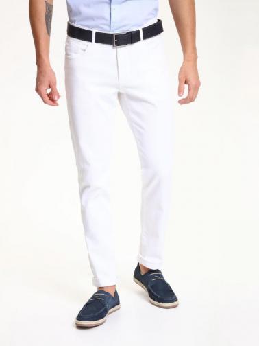 Top Secret Kalhoty pásnké bílé
