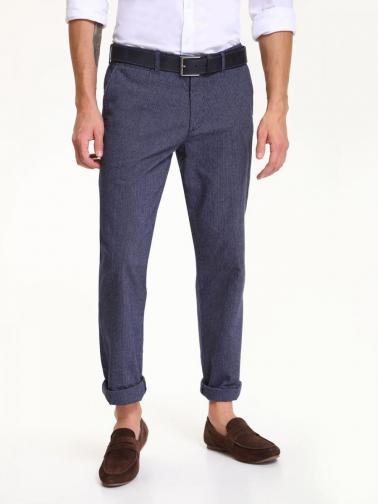 Top Secret Kalhoty pánské tmavě modré bavlněné