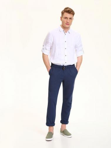 Top Secret Kalhoty pánské tmavě modré na gumu a stahovací šňůrku