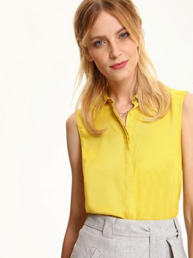 Top Secret Košile dámská žlutá na knoflíky