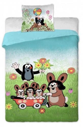 Jerry Fabrics bavlna povlečení Krteček s balónkem 140x200 70x90