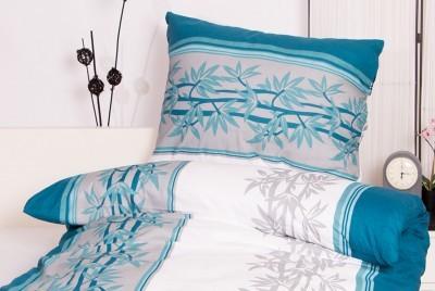 XPOSE ® Bavlněné povlečení na dvě lůžka ŠTĚPÁNKA - modrá 70X90, 140X200