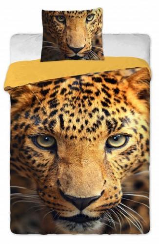 Jerry Fabrics bavlna povlečení fototisk Leopard 2015 140x200 70x90