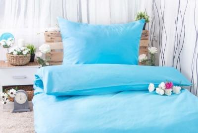 XPOSE ® Bavlněné povlečení na dvě lůžka MICHAELA - azurová 140x200, 70x90