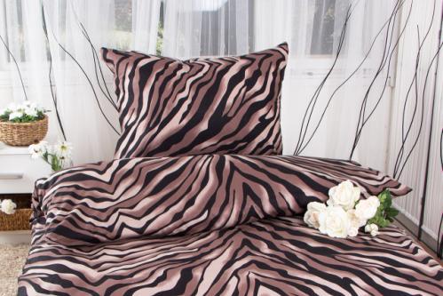 XPOSE ® Prodloužené bavlněné povlečení LAURA EXCLUSIVE - šedá 140x220, 70x90