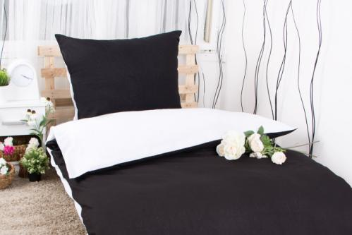 XPOSE ® Bavlněné povlečení na dvě lůžka MICHAELA DUO - černá 140x200, 70x90