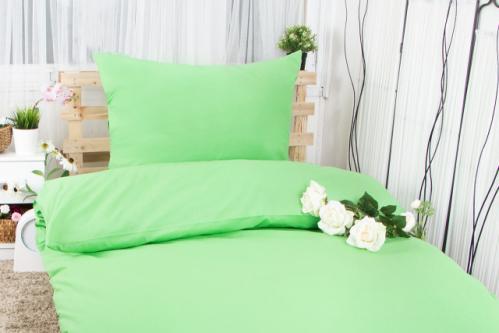 XPOSE ® Bavlněné povlečení na dvě lůžka MICHAELA - letní zelená 140x200, 70x90