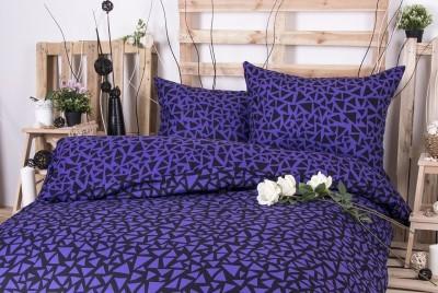 XPOSE ® Francouzské bavlněné povlečení XENIE DUO - fialová 200x220, 70x90