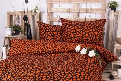 XPOSE ® Francouzské bavlněné povlečení XENIE DUO - oranžová 200x220, 70x90