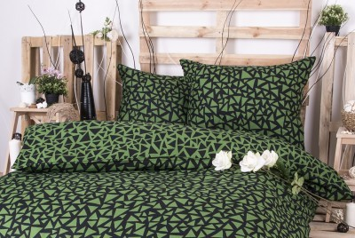 XPOSE ® Francouzské bavlněné povlečení XENIE DUO - zelená 200x220, 70x90
