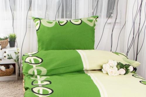 XPOSE ® Prodloužené krepové povlečení MAGDALENA - zelená 140x220, 70x90