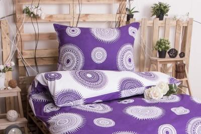 XPOSE ® Prodloužené bavlněné povlečení MARILYN DUO - fialová 140x220, 70x90