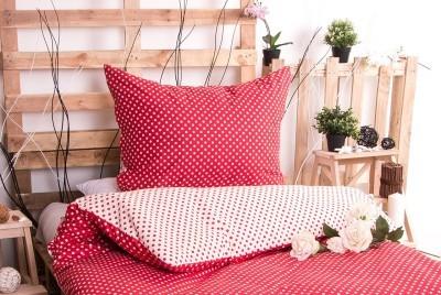 XPOSE ® Bavlněné povlečení MARKÉTA DUO - červená 140x200, 70x90