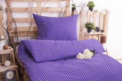 XPOSE ® Bavlněné povlečení MARKÉTA - fialová 140x200, 70x90