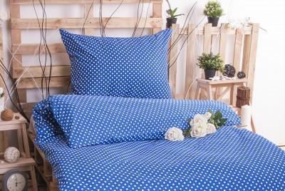 XPOSE ® Bavlněné povlečení MARKÉTA - modrá 140x200, 70x90