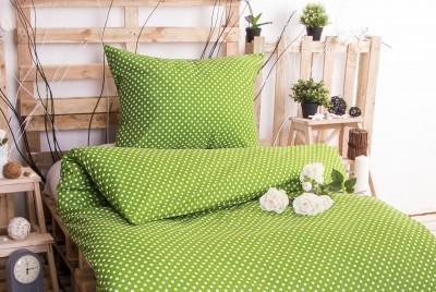 XPOSE ® Prodloužené bavlněné povlečení MARKÉTA EXCLUSIVE  - zelená 140x220, 70x90