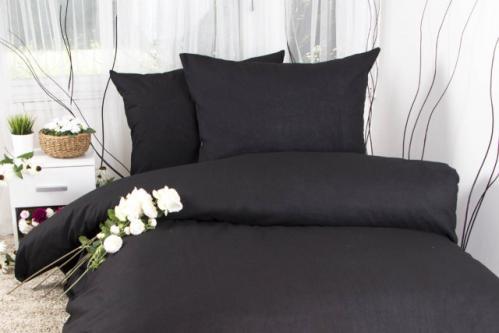XPOSE ® Francouzské bavlněné povlečení MICHAELA - černá 220x200, 70x90