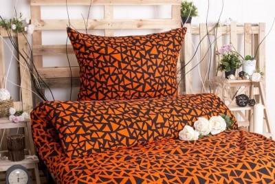 XPOSE ® Prodloužené bavlněné povlečení XENIE DUO EXCLUSIVE - oranžová 140x220, 70x90