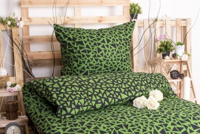 XPOSE ® Prodloužené bavlněné povlečení XENIE DUO EXCLUSIVE - zelená 140x220, 70x90