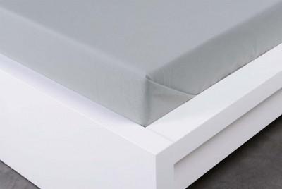 XPOSE ® Bavlněné prostěradlo - šedá 140x225 cm