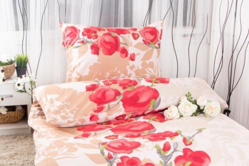XPOSE ® Prodloužené bavlněné povlečení VANESA - červená 140x220, 70x90