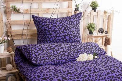 XPOSE ® Bavlněné povlečení XENIE DUO - fialová 140x200, 70x90