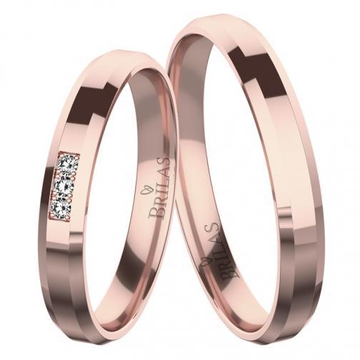 Sebastiana Red - snubní prsteny z červeného zlata