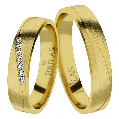 Afra Gold Briliant - snubní prsteny ze žlutého zlata s brilianty