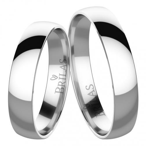 Absolon White  - elegantní snubní prsteny z bílého zlata