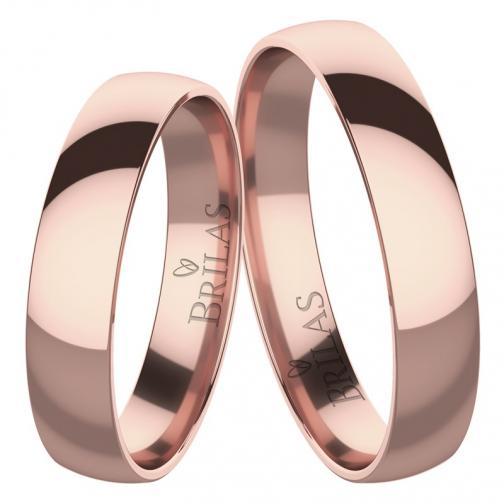 Absolon Red  - elegantní snubní prsteny z červeného zlata