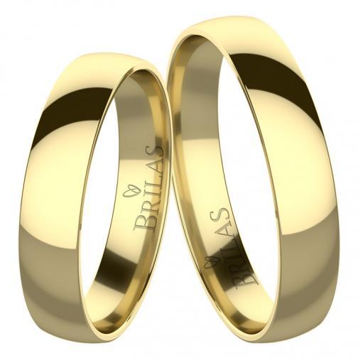 Absolon Gold  - elegantní snubní prsteny ze žlutého zlata