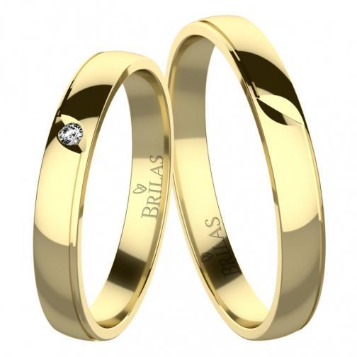 Rumba Gold - snubní prsteny ze žlutého zlata