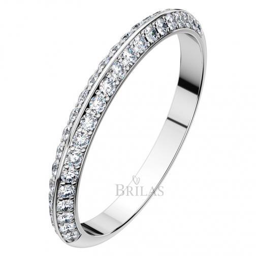 Afrodita II. White  - luxusní snubní prsten