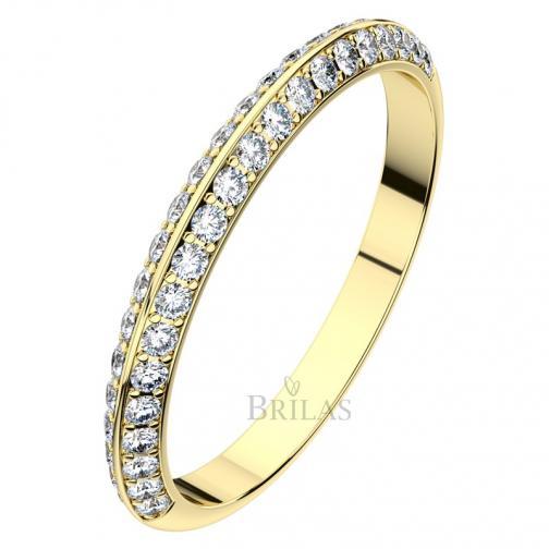 Afrodita II. Gold - luxusní snubní prsten