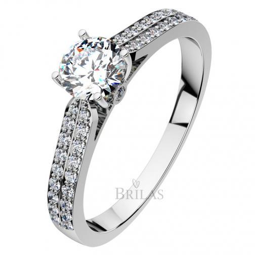 Afrodita White  - luxusní zásnubní prsten