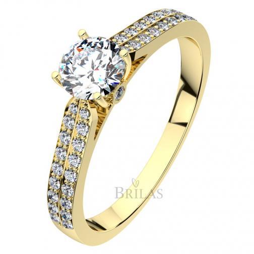 Afrodita Gold - luxusní zásnubní prsten