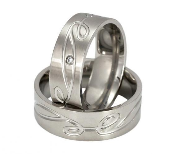 Albis Stone - ocelové snubní prsteny