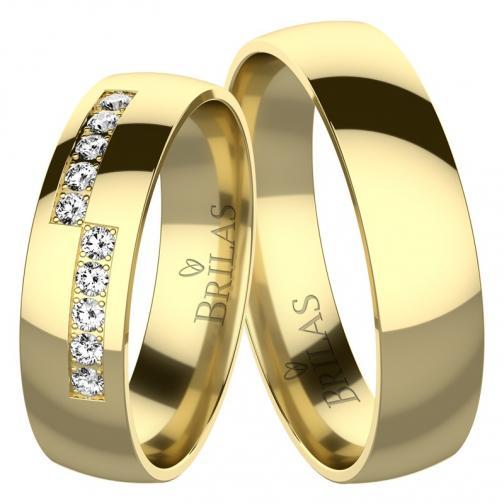 Timea Gold - snubní prsteny ze žlutého zlata
