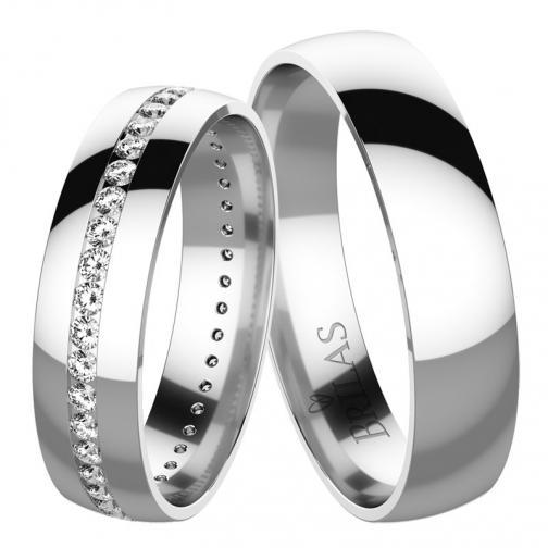 Melisa White  - snubní prstýnky z bílého zlata