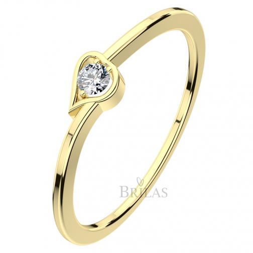 Hypnos G Briliant  - zásnubní prsten se srdcem