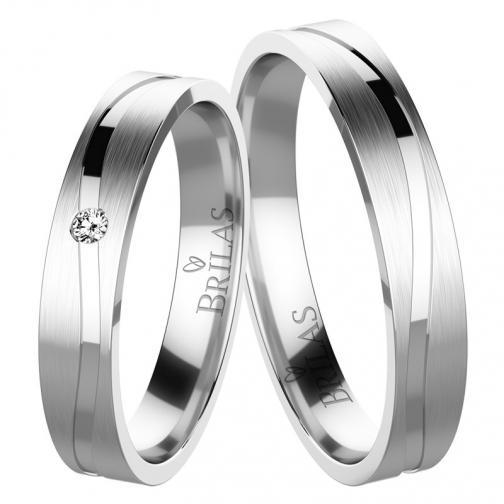 Albina White - snubní prsteny z bílého zlata