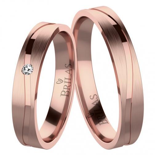 Albina Red - snubní prsteny z červeného zlata