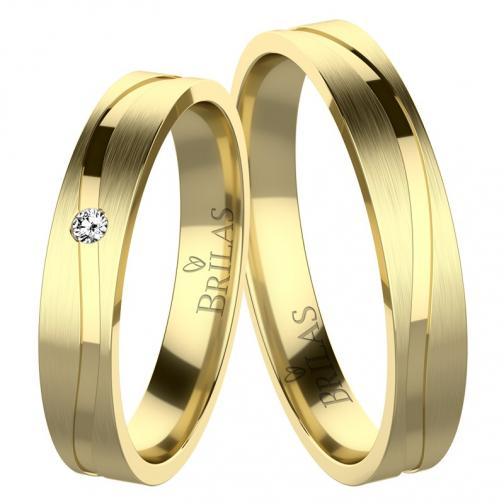 Albina Gold - snubní prsteny ze žlutého zlata
