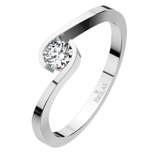 Vitas II. White - dámský zásnubní prsten z bílého zlata