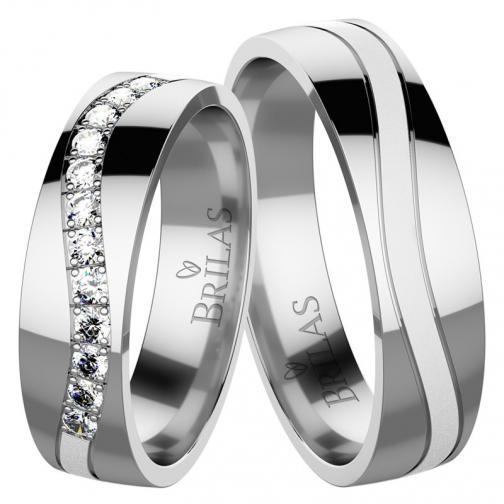 Adore White - snubní prsteny z bílého zlata