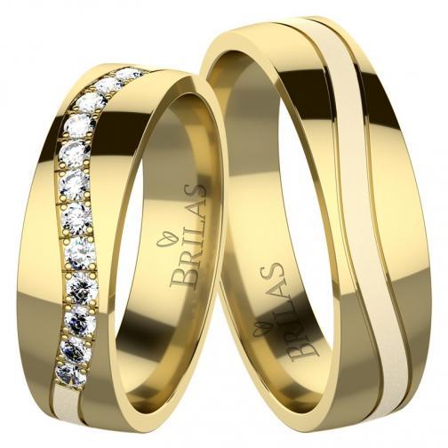 Adore Gold - snubní prsteny ze žlutého zlata