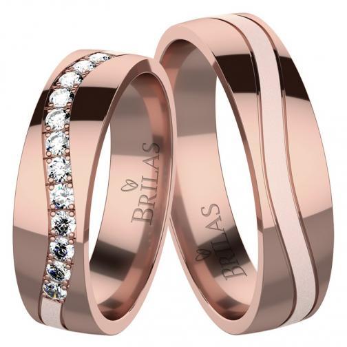 Adore Red - snubní prsteny z červeného zlata