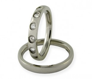 Alexandria - snubní prsteny z chirurgické oceli