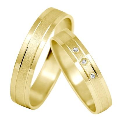 Minda Gold - snubáčky ve žlutém zlatě