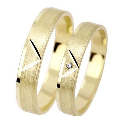 Abel Gold - snubní prstýnky ze žlutého zlata